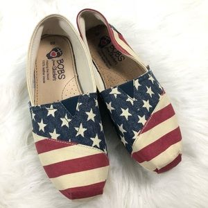 BOBS From Sketchers American Flag Flats Size 8